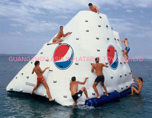 ODM 0.9mm PVC Tarpaulin 3 Sides Climbing Wall Inflatable Iceberg