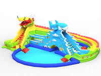 Giant Inflatable Dragon Slide Water Park