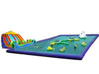 PVC Tarpaulin Aqua Inflatable Water Park Games