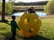 Mega Giga Ball,Yellow Inflatable Giga Ball for Sale