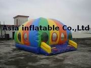 Rainbow Colorful Inflatable Dome Bounce Castle