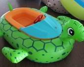 Green Color Sea Turtle Bumper Boat