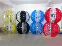 5 Foot Multi Colors Bubble Soccer Ball