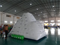 Inflatable Iceberg with 3 Sides Climbing Wall for Beach Park, Water Park