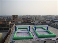 1000D PVC tarpaulin Inflatable Water Volleyball Court Game for Sale