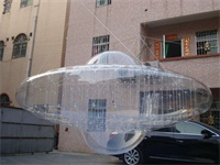 New Style 0.25mm Transparent PVC Flying UFO Inflatable Model for Sale
