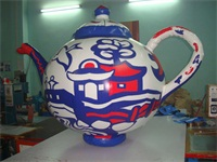Air Sealed Strong Style Digital Printing Inflatable Teapot Simulation Model for Sales Promotions