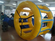 0.6mm PVC Tarpaulin Colorful Inflatable Water Roller Ball