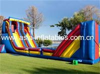 Yellow,Red and Blue Classic Mobile Zip Line Inflatable Game