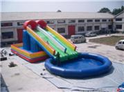 Customized 3 In 1 Inflatable Water Slide Combos
