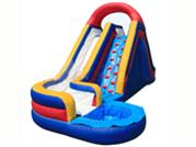 Inflatable Twist Water Slide With Rock Climb Ramp