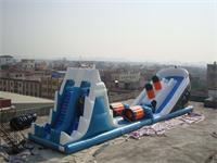 New Inflatable Titanic Theme Slide