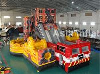 New 2015 Inflatable Fire Rescue Obstacle Course for sale