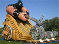 Giant Inflatable Axeman Slide