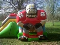 Mini Size Inflatable Slide in NFL Rugby Player Design