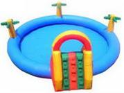Dia 6m Inflatable Pool with Slide for Kids Playing Center