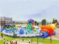 Giant Inflatable Octopus Slide Water Parks 25m Diameter