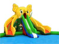 Giant Dual Lane Inflatable Elephant ​Slide Water Park