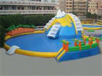 Fantastic Climbing Snow Mountains Theme Inflatable Water Park