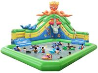 New Design Inflatable Octopus Slide Water Playground