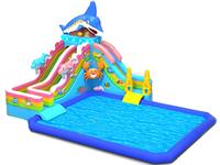New Arrival Inflatable Shark Slide Water Playground