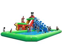 Giant Inflatable Pirate Ship Slide Water Park