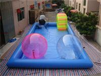 Light Blue Large Inflatable Pool for  Kids Playing Center