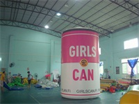 Full Color Digital Printing 4m Hign Girls Can Inflatable Pop-Top Can