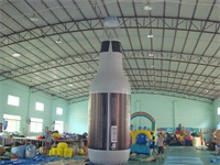 Air Sealed Welding 0.6mm PVC Tarpaulin Inflatable Bottle 7.6m High Advertising Bottle Model