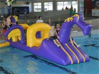 Aqua Runs Freckles Dragon Obstacle Course Water Inflatables