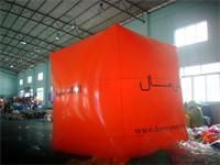 Orange Color Printed Square Balloon