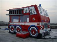 Inflatable Fire Truck bouncer for Kids Amusement