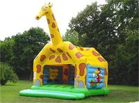 Large Dramatic Inflatable Giraffe Jumping Bouncer