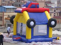 Attractive Inflatable Monster Truck Bouncer in Children Park for Rental Business
