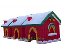 Inflatable Christmas Cabin Decoration Prop