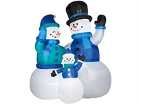 12 Foot Giant Snowman Family Christmas Inflatables