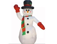 Holiday Airblown Christmas Inflatable Snowman Lawn Decoration