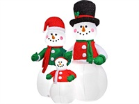 7ft Tall Airblown Inflatable Snowman Family Christmas Decoration​
