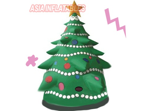 Inflatable light show christmas tree outdoor decoration christmas