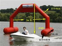 New 23 Foot Stable Inflatable Billboard Arch Display on Water