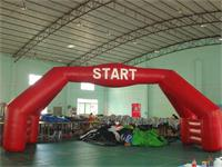New 40 Foot Full Red Air Sealed Welding Stable Inflatable Double Arch