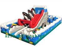 Snow Theme Inflatable Pirate Ship Fun City