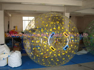 Yellow Color Dots Zorb Ball