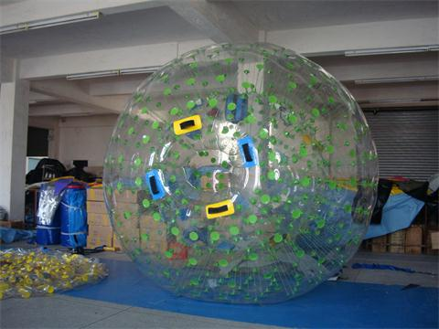Green Color Dots Zorb Ball